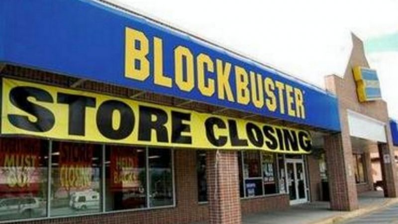 A local DVD rental company Blockbuster turned down the offer of Netflix for $50 million in 2000. They used to run a company that would sell and rent DVDs by post. Today, Netflix has made the DVD obsolete. (Photo credit: CNN)