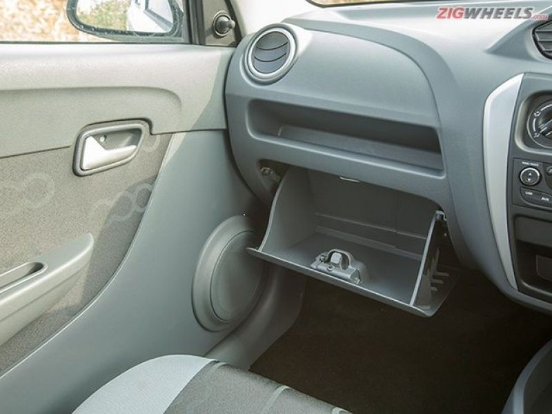 The Alto only gets one glovebox.