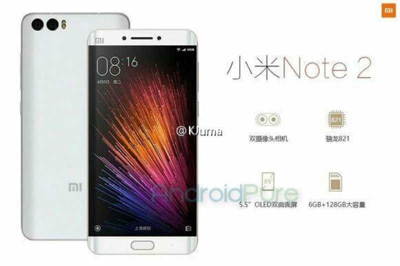 Xiaomi Mi Note 2 possible specifications and release date leaked