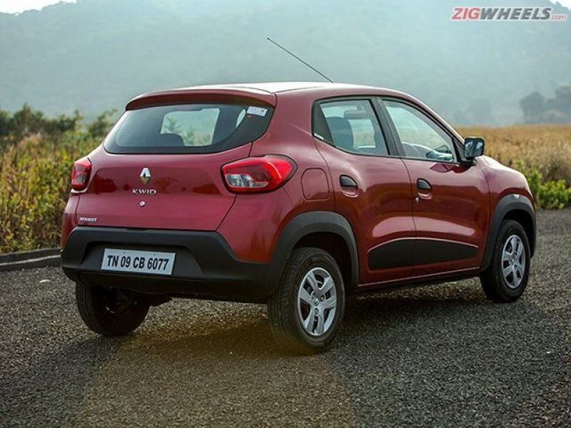 With a simple, clean rear, the Kwid is easily the best looking car.