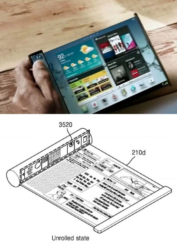 Foldable and rollable smartphones