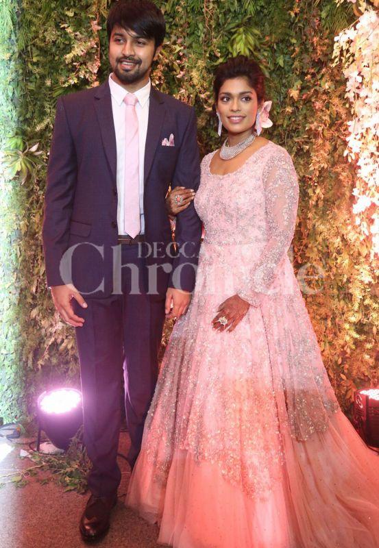 Chiranjeevi hosts star studded reception for daughter Srija