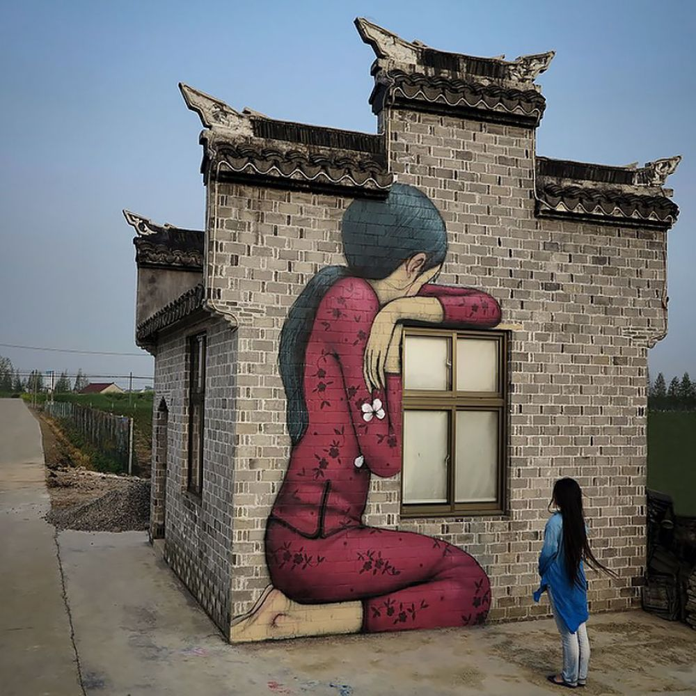 Large Scale Art Buildings Transformed Into Beautiful Work Of Art By French Artist