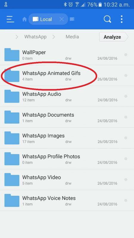 WhatsApp GIF Animation
