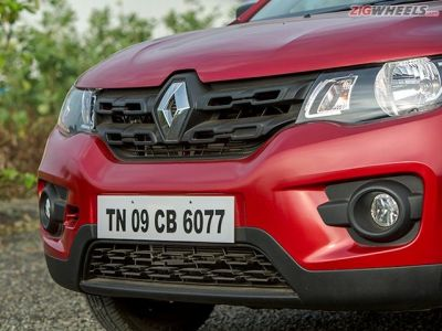 The Kwid's grille is easily the most striking feature of its front end.