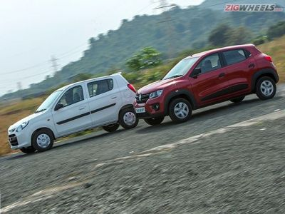 The Alto is heavier than the Kwid, weighing 725kg as compared to the Kwid's 660kg.