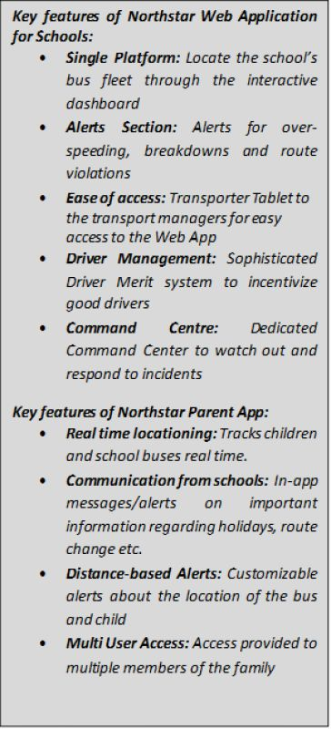 Key features of Northstar