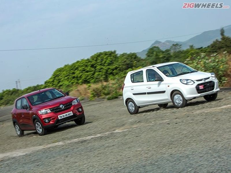 The Alto is quicker off the line as compared to the Kwid.