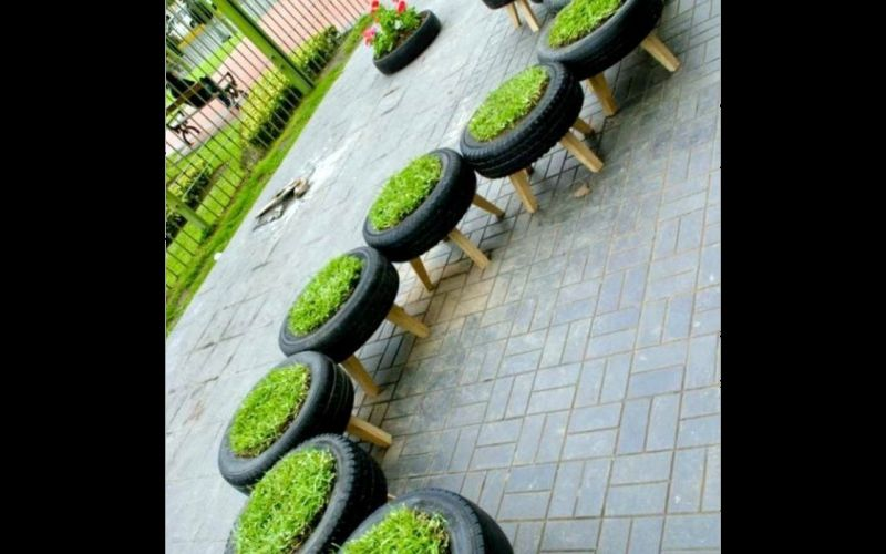 Simply attach wood or cane stands and male awesome flowerbeds for your garden.