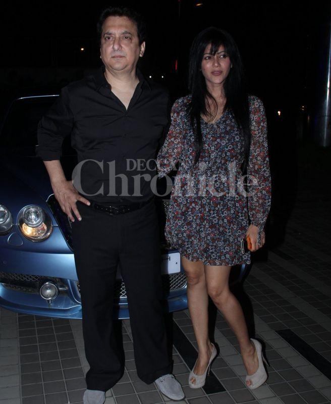 Sajid Nadiadwala with wife Wardha