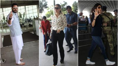 On Friday, our shutterbugs spotted Abhishek, Kareena, Shilpa and other celebs flying in and out of bay. (Photo: Viral)