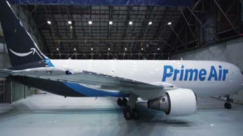 Amazon unveils its first branded cargo plane