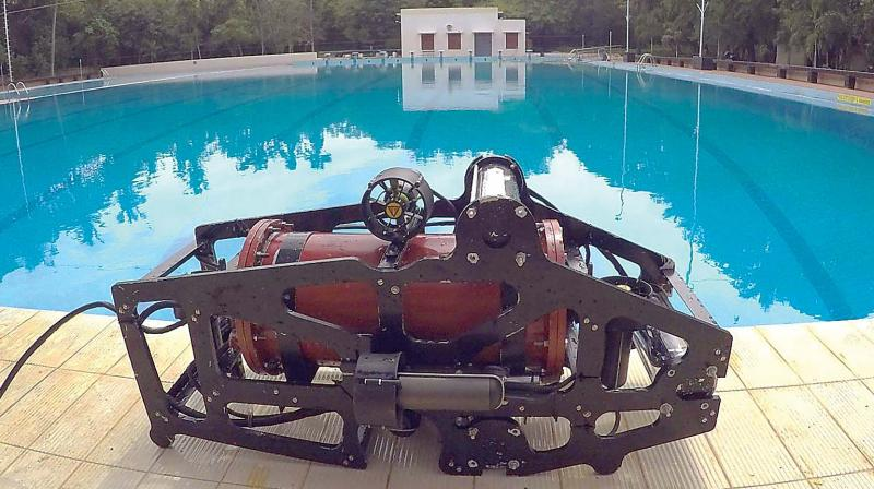 A view of underwater robot 'Mike'.