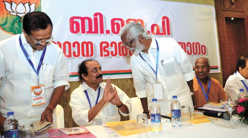 Thiruvananthapuram accusations mar newfound bjp bdjs for V muraleedharan bjp