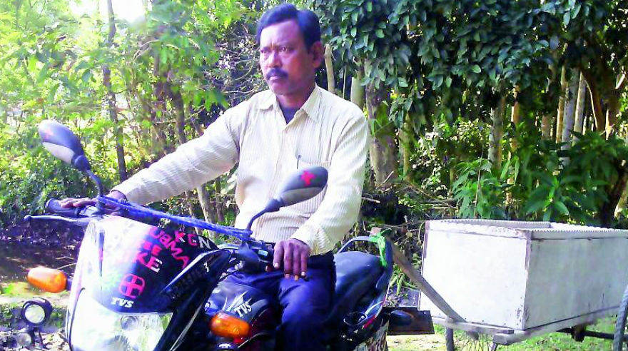 Karimul Haq runs a free ambulance bike in Jalpaiguri, West Bengal