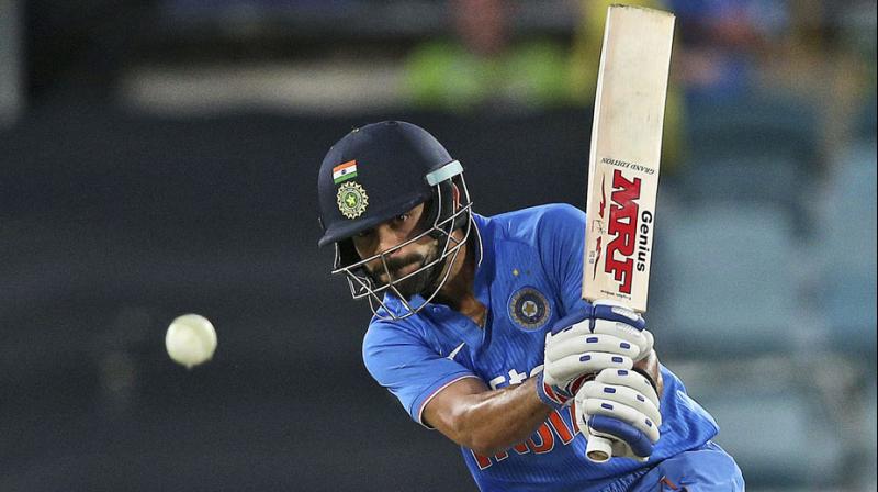 India cricketer Virat Kohli became the fastest to reach 25 ODI hundreds (162 matches) during the fourth ODI against Australia on Wednesday. (Photo: AP)