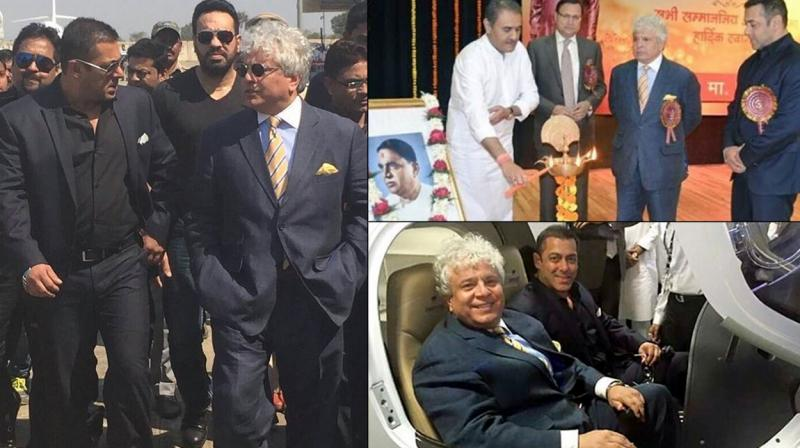 Salman Khan, who is busy working on 'Sultan', took time off to visit a college and attend an award ceremony in Gondia that was hosted by politician Praful Patel. While there, he also visited an air base and got comfortable in the pilot's seat.