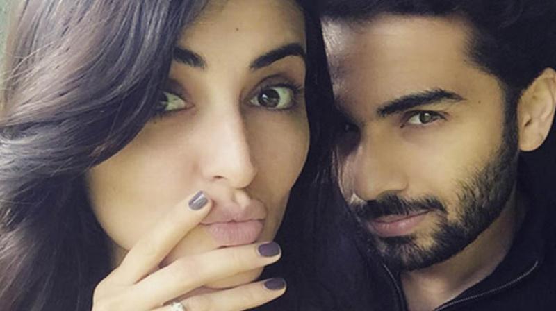 Mandana Karimi with her fiance Gaurav Gupta.