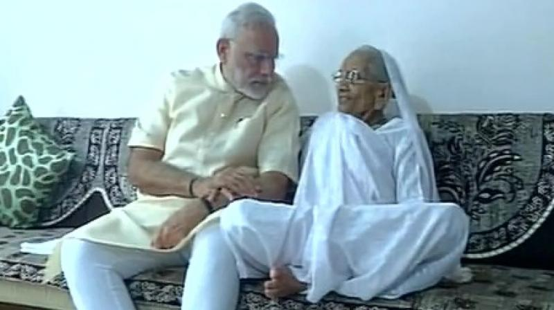 Narendra Modi in Gujarat on his birthday, meets mother