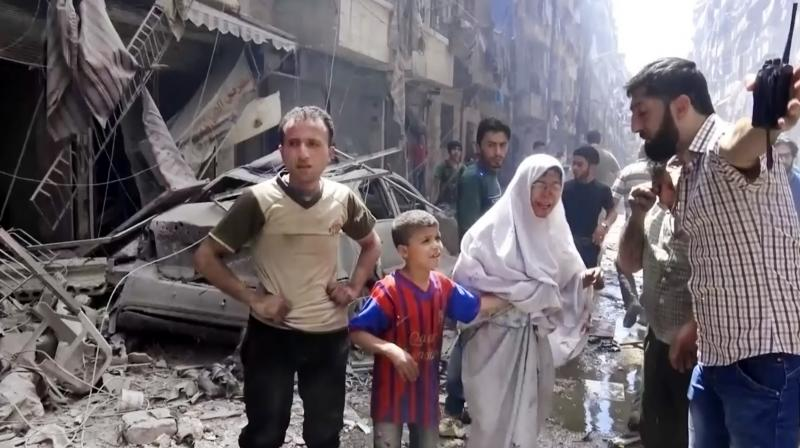 Air strikes hit a hospital in a rebel-held area of Syria's Aleppo and killed at least 27 people, including three children and the city's last paediatrician, the Syrian Observatory for Human Rights said.