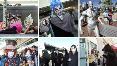 The pop-culture celebration, Comic-Con International, kicked off Wednesday evening with the festival's preview night, where con-goers with four-day passes have first crack at the collectibles, free swag and photo opportunities on the San Diego Convention Center floor. (Photo: AP)