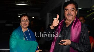 Sonakshi Sinha's parents attended the screening of 'Akira' where Rajkumar Hirani and other celebrities were also spotted.