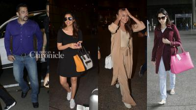 Salman Khan, Sonakshi Sinha, Parineeti Chopra, Malaika Arora Khan and Tamannah Bhatia were spotted at different occassions sporting diverse looks and attires. (Pic: Viral Bhayani)