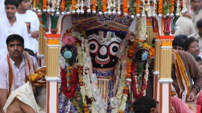 139th annual Jagannath Rath-Yatra begins in Ahmedabad on Wednesday amidst tight security being pressed into service for the annual event. (Photo: Twitter/@anandibenpatel)