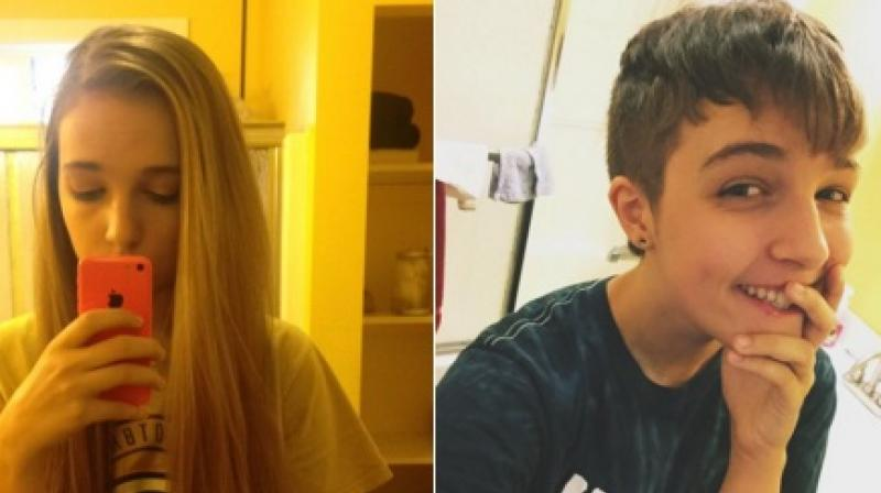 Transgender teens are posting photos of themselves – before and after their gender transition – on