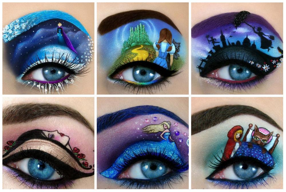 Makeup Artist Creates Fairytale inspired Designs On Her Eyelids