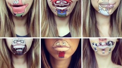 Makeup doesn't always have to be about contouring and party looks. Artist Laura Jenkinson has created eye-catching lip art of all of our favourite cartoon characters that will bring back old memories from your childhood. (Photo: Instagram/ @laurajenkinson)