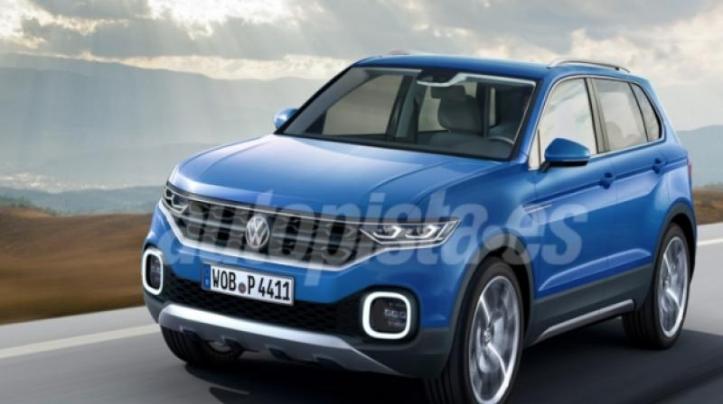 India Bound Volkswagen Compact Suv Renders Surface