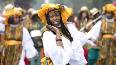 The carnival traces its roots back to Caribbean music festivals in the 1950s (Photo: AP)