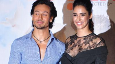 Disha Patani couldn't help but gush about Tiger Shroff's skills on the dance floor at the launch of their music video 'Befikra'. Photo: Viral Bhayani