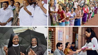 Kerala witnessed brisk polling for the 140 Assembly constituencies with 28.46 per cent voting recorded till noon. (Photo: Facebook)
