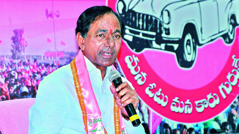 Telangana Chief Minister K Chandrasekhar Rao (Photo: DC)