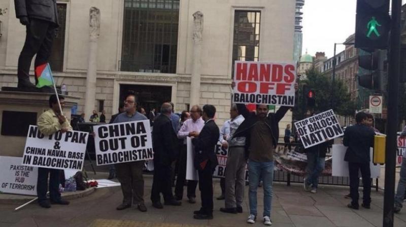 Baloch activists protest against Pakistan outside UN
