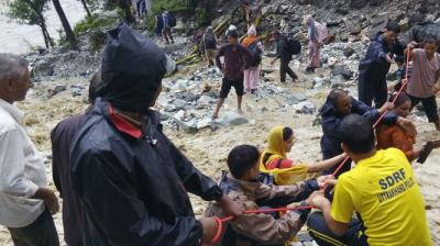 18 to 20 people were killed in Uttarakhand's Chamoli and Pithoragarh since Thursday as torrential rains triggered flashfloods and landslides in Uttarahand.