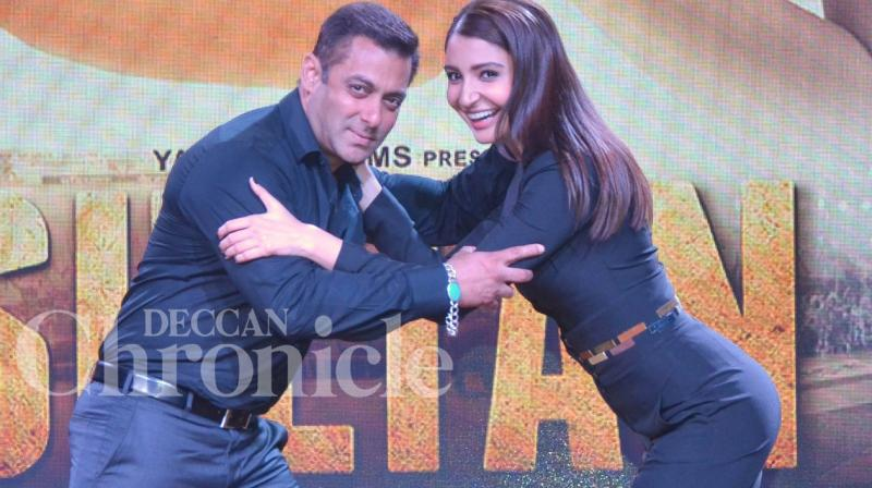 After months of waiting, Salman Khan and Anshka Sharma finally launched the trailer of their upcoming film 'Sultan', at an event in Mumbai on Tuesday evening. Photo: Viral Bhayani