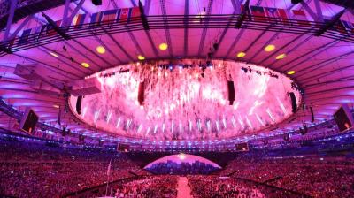The Rio Olympics opening ceremony started with fireworks and laser lit choreography on Friday as Brazil sought to forget seven years of troubled preparations and the Olympic movement to temporarily put aside its doping crisis. (Photo: AP)