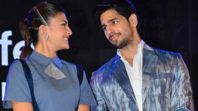 Jacqueline Fernandez and Sidharth Malhotra attended a product launch in the city, where they got chatty about their next action flick and also shared their views on the Hrithik Roshan-Kangana Ranaut controversy. Photo: Viral Bhayani