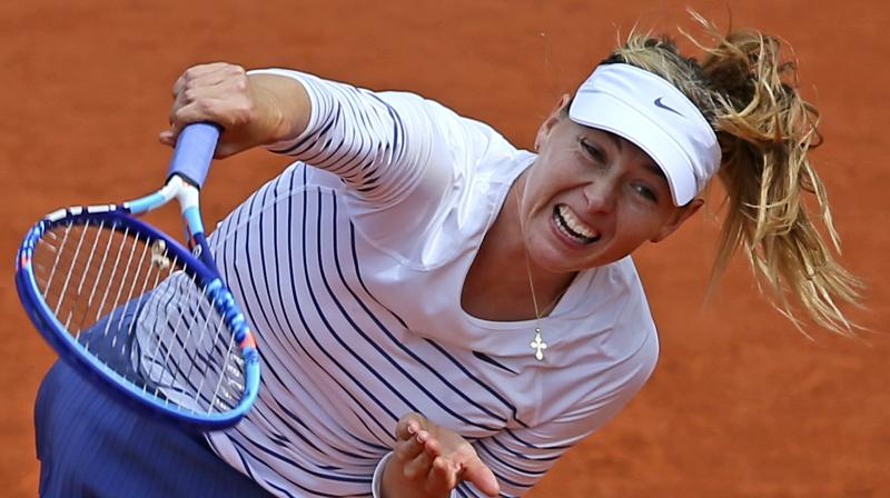 Maria Sharapova makes her return to the tennis court