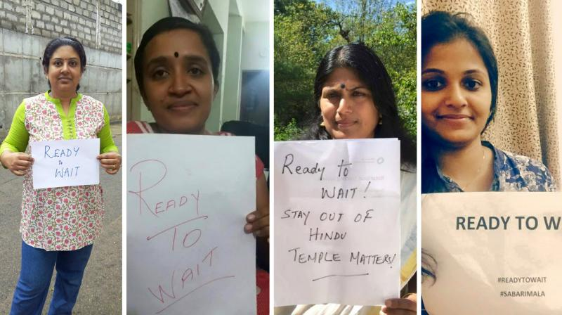 #ReadyToWait: Women campaign to 'protect Sabarimala tradition' in Kerala