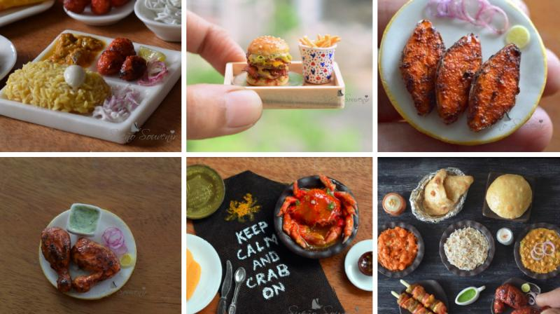 Shilpa Mitha creates such realistic-looking miniature replicas of Indian food that you will have a hard time popping them inside your mouth. The Chennai-based artist uses dry clay to make these tiny works of art. (Photo: Facebook/ Sueño Souvenir)