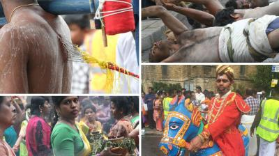 Thousands of Hindu devotees gathered in Ealing, West London to celebrate the annual chariot festival, marking the biggest event of the year.