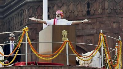 Prime Minister Narendra Modi greeted the nation on its 70th Independence Day from the ramparts of Red Fort in New Delhi and saluted Mahatma Gandhi, Sardar Patel, Pandit Nehru and all those who sacrificed their lives to attain 'Swaraj'.
