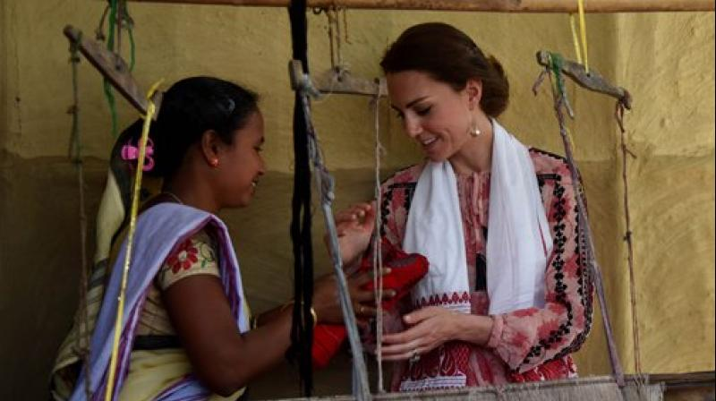 Kate Middleton chose to wear only dresses while on her visit to India. (Photo: AP)