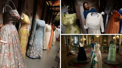 Part of Queen Elizabeth II's wardrobe, both present and past, will be on display from this Saturday at Windsor Castle, about 32 km west of London, in the exhibition: 'Fashioning a Reign: 90 Years of Style from The Queen's Wardrobe'. (Photo: AP)