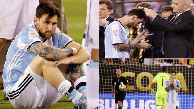 Lionel Messi looked utterly shattered as Argentina lost the Copa America final. (Photo: AP)