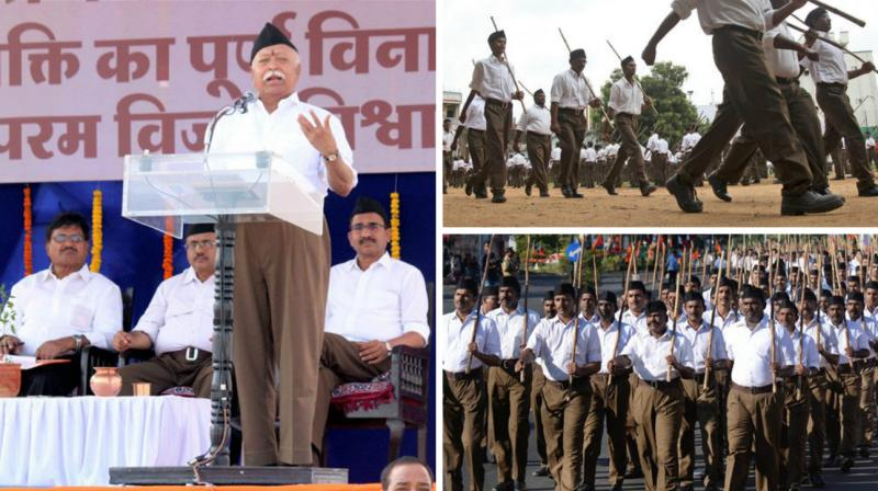 Smart dark brown trousers donned by RSS functionaries instead of khaki shorts they had worn for the last 90 years, stood out at the Sangh's foundation day ceremony today, but the traditional bamboo stick will remain part of the uniform.